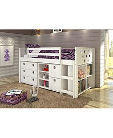 Twin Circles Low Loft Bed Group Set