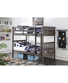 Twin Over Twin Wide Mission Bunk Bed