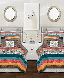 Bohemian Stripe 5-Piece Twin XL Comforter Set