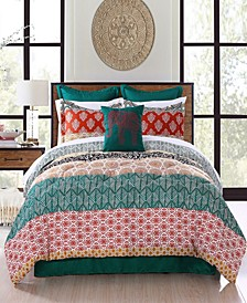 Bohemian Stripe 7-Pc. Full/Queen Comforter Set
