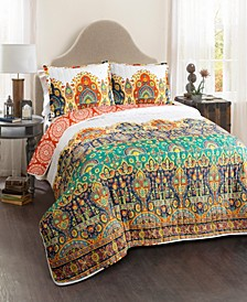 Bohemian Meadow 3-Pc. King Quilt Set