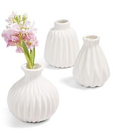 Home Essentials La Dolce Vita Embossed Mini Vases, Set of 3