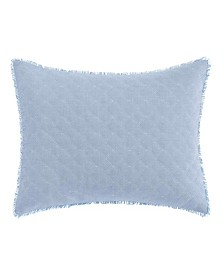 Laura Ashley Mila Chambray Blue Breakfast Pillow