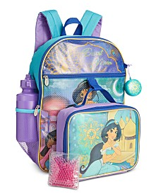 Bioworld Little & Big Girls 5-Pc. Princess Jasmine Backpack & Lunch Kit Set