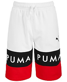 Puma Big Boys Colorblocked French Terry Shorts