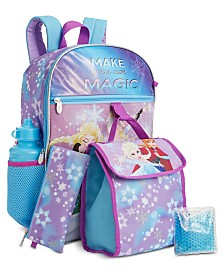 Bioworld Little & Big Girls 5-Pc. Frozen Princesses Backpack & Lunch Kit Set