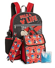 Little & Big Boys 5-Pc. Mickey Mouse Backpack & Lunch Kit Set