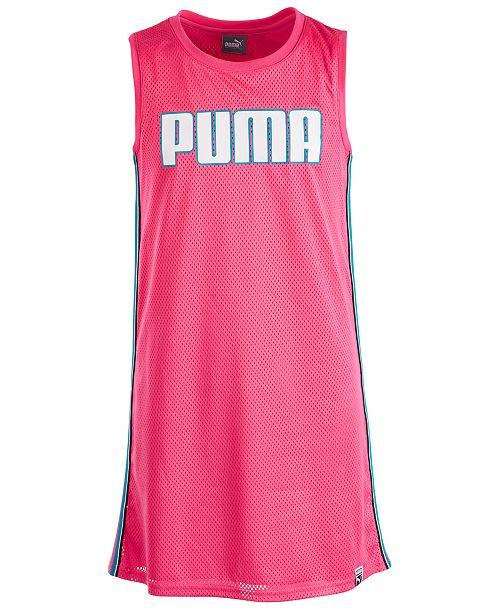 Puma Big Girls Mesh Logo Dress