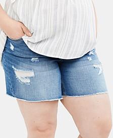 Maternity Plus Size Denim Shorts