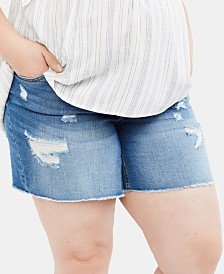 Jessica Simpson Maternity Plus Size Denim Shorts