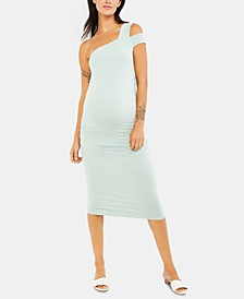 Maternity Cold-Shoulder Sheath Dress
