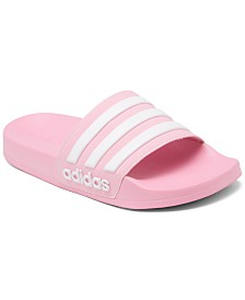 adidas Little Girls' Adilette Shower Slide Sandals from Finish Line