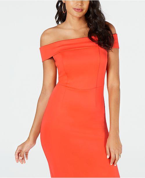 5760a89f712 Thalia Sodi Off-The-Shoulder Bodycon Dress
