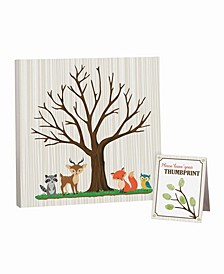 Woodland Baby Shower Guest Signing Canvas