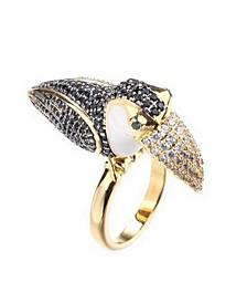 Tucan Ring With Cubic Zirconia Stones