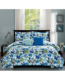 Calypso 5-Piece Comforter Set, Full/Queen