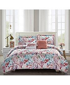 Bloom by Sara Berrenson 5-Piece Comforter Set, Full/Queen