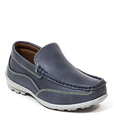 Little and Big Boys Booster Driving Moc Style Dress Comfort Loafer