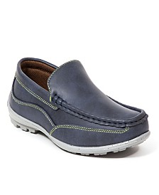 Deer Stags Little and Big Boys Booster Driving Moc Style Dress Comfort Loafer