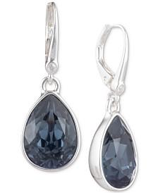 DKNY Silver-Tone Crystal Drop Earrings