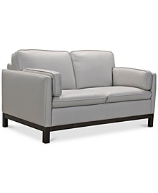 "Virton 63"" Leather Loveseat, Created for Macy's"