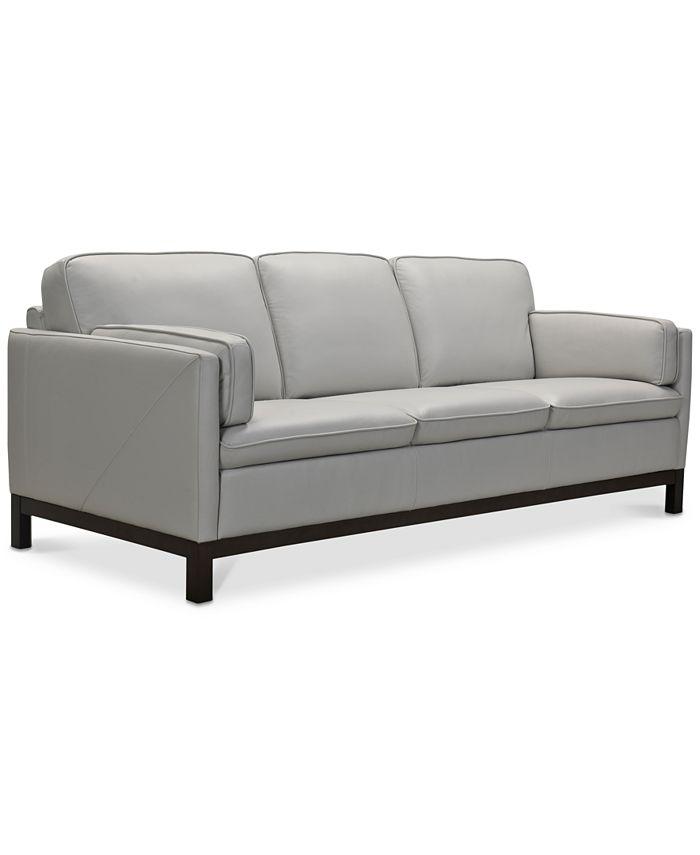"""Furniture - Virtron 87"""" Leather Sofa"""