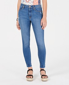 American Rag Juniors' Ripped Released-Hem Skinny Jeans, Created for Macy's