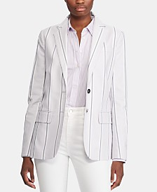 Lauren Ralph Lauren Petite Striped Canvas Blazer
