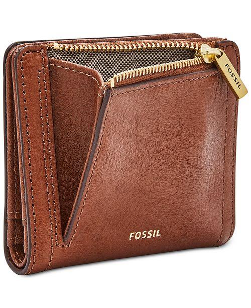 Fossil Logan RFID Logo Leather Bifold Wallet & Reviews ...
