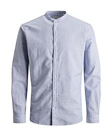 Men's Mandarin Collar Linen Shirt