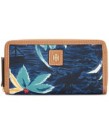 Tommy Hilfiger Julia Hawaiian Zip Around Wallet