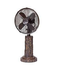DecoBreeze Fir Bark Table Fan