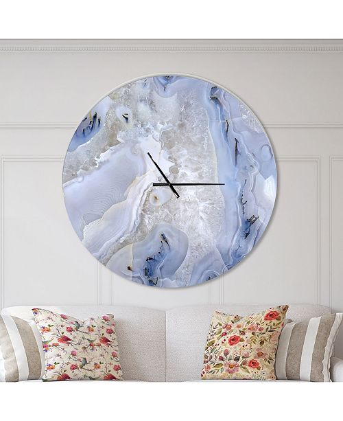 Design Art Designart 'Agate Stone Background' Oversized Modern Metal Clock