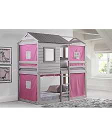 Twin Loft Bed Deer Blind Bunk Bed with Tent Kit