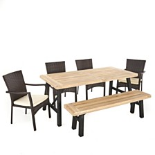 Horton Outdoor 6-Pc. Dining Set, Quick Ship