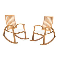 Cayo Outdoor Rocking Chair (Set of 2), Quick Ship