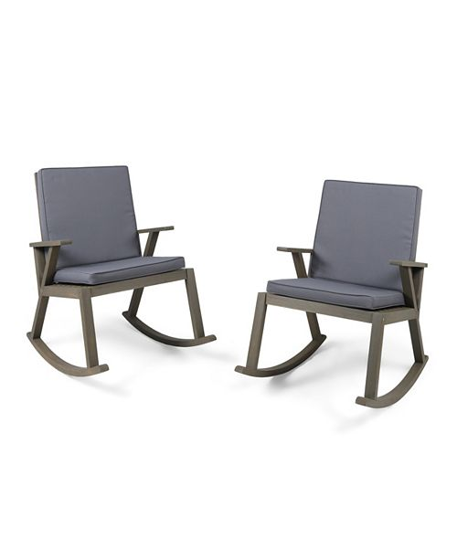 Noble House Champlain Outdoor Rocking Chair, Set of 2