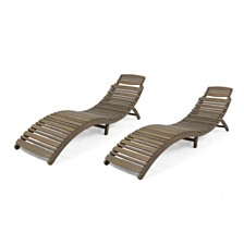Lahaina Outdoor Chaise Lounge, Quick Ship (Set of 2)