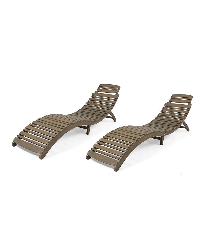 Noble House - Lahaina Outdoor Chaise Lounge (Set of 2)