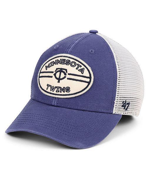 new product f5526 f3fd8 ...  47 Brand Minnesota Twins Hudson Patch Trucker MVP Cap    ...