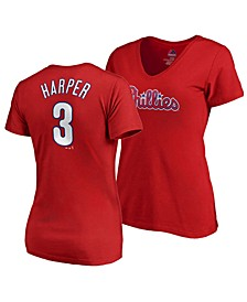 Women's Bryce Harper Philadelphia Phillies Crew Player T-Shirt