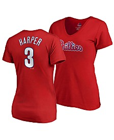 Majestic Women's Bryce Harper Philadelphia Phillies Crew Player T-Shirt