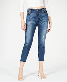 Catherine Frayed Hem Ankle Straight Jeans