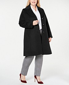 Plus Size Notch-Collar Walker Coat