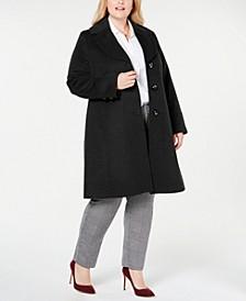 Plus Size Notch-Collar Walker Coat