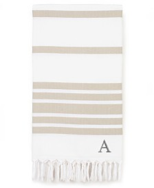 Linum Home Personalized Herringbone Pestemal Beach Towel Collection