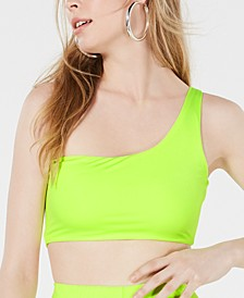 One-Shoulder Biker Crop Top