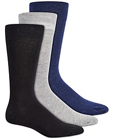 Men's 3-Pk. Marled Crew Socks