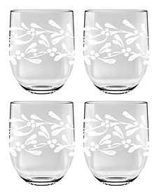 Gather Garland Stemless Goblet, Set of 4