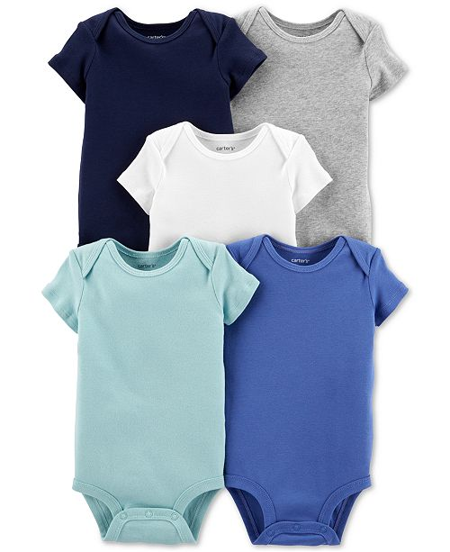 Carter's Baby Boys 5-Pack Cotton Bodysuits